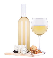 white wine assortment cheese