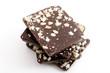 Schokoladenspezialität mit gerösteten Mandelsplittern