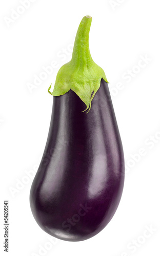 Fotobehang Keuken Eggplant isolated on white
