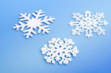 Drei Schneeflocken