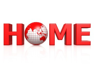 Home with globe