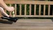 Gartenbank Sitzfläche streichen