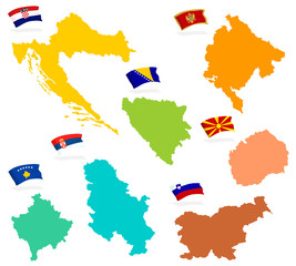The seven states of former Yugoslavia