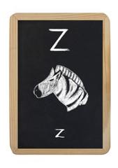 letter Z for zebra