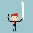 Businessman sword