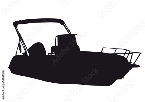 Black silhouette of a boat