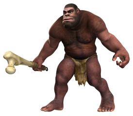 Neandertaler mit Keule 03