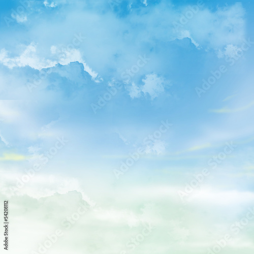The blue sky with clouds, background