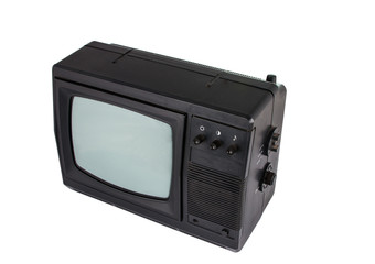old TV isolated