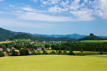 Landscape of cultivated plants in Saxon Switzerland