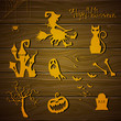 Vector Illustration of Halloween Design Elements