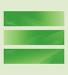 Set of green vector banners, headers, copy space