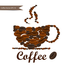 Coffee seamless background
