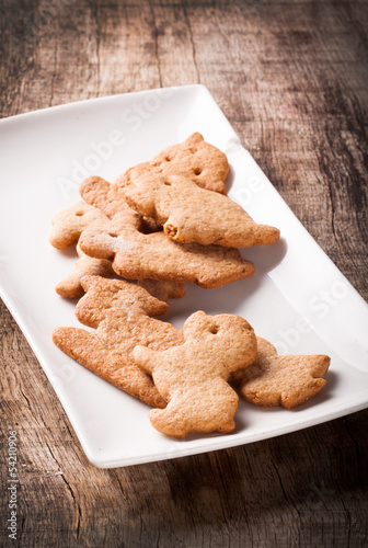 gingerbread on wooden table