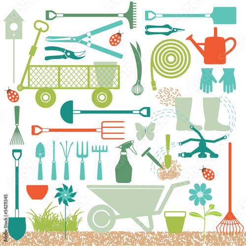 Gardening related icons 4