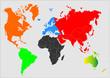Globus - Erdteile