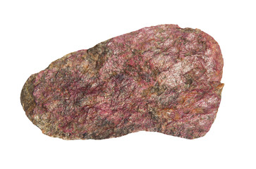 Eudialyte stone on a white background