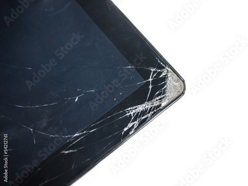 Dropped and cracked tablet