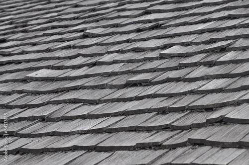 Schindeln auf einem Dach