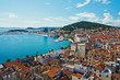 Amazing panoramic top view of the historic city Split - 54213572