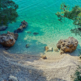 Amazing beach with cristalic clean sea water in Croatia