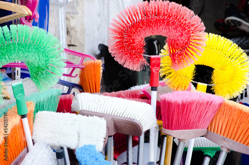 Colorful cleanig brushes