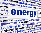 Energy creative words design
