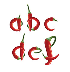 Alphabet, red hot chilli peppers.