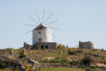 Windmill in Lefkes, Paros island (Greece)