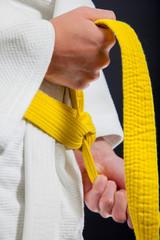 Judo yellow belt