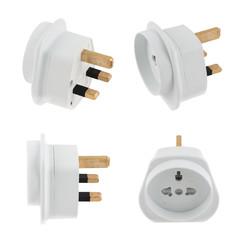 EU to UK converter plug adapter isolated