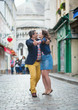 Couple dancing on Montmartre