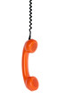 vintage orange telephone handset