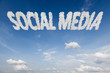 Social media concept text in clouds