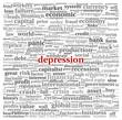 Depression concept on white