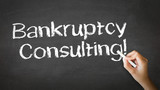 Bankruptcy Consulting Chalk Illustration poster
