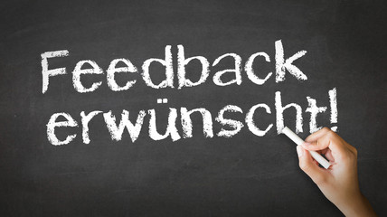 We Want Your Feedback (In German)