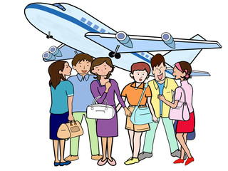 若者たちの空の旅