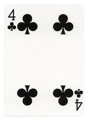 Playing Card - Four of Clubs