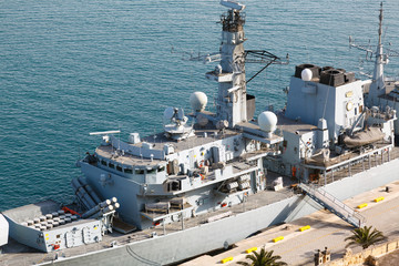 Type 23 frigate in the Malta Grand Harbor