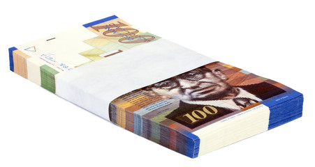 Isolated 100 NIS Bills Stack