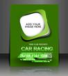 car racing flyer, vector