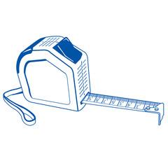 Cartridges meters blue outline vector