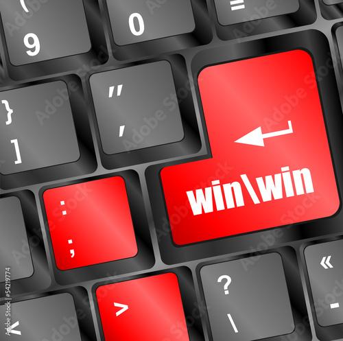 win button on computer keyboard key