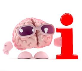 Brain has info