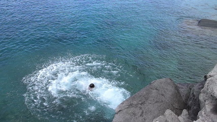 Young Man Backflips Into Ocean.