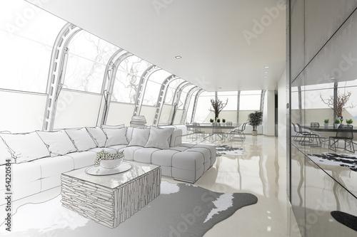 Modern Loft Area (drawing)