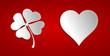 Herz und Kleeblatt weiß