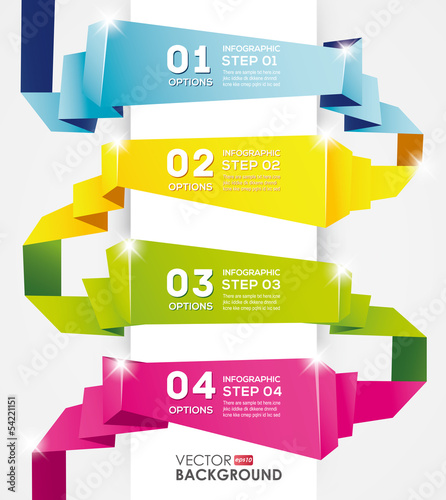 Infographic Design template,origami banner