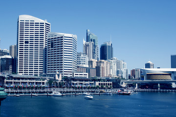 A harbour scene, Darling Harbour, Sydney, New South Wales